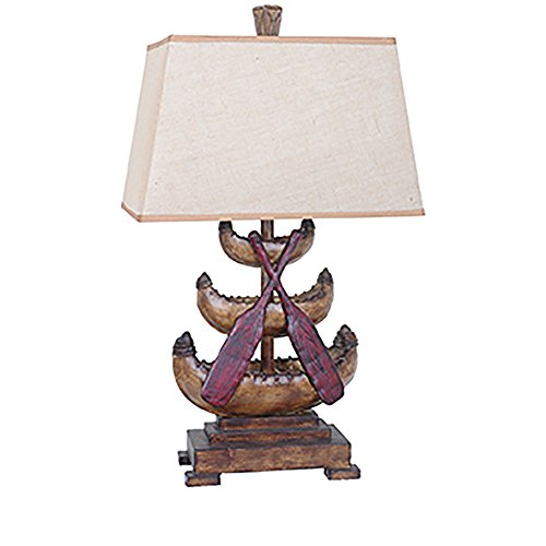 - Crestview Collection Canoe Resin Table Lamp