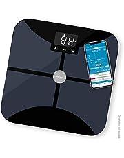 Medisana BS 652 weegschaal voor lichaamsanalyse tot 180 kg met W-LAN of Bluetooth, personenweegschaal voor het meten van lichaamsvet, lichaamswater, spiermassa en botgewicht met Body Analysis App