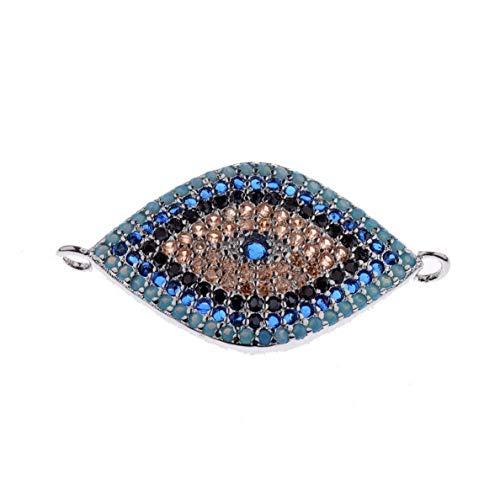 - Gatton Colorful CZ Zircon Bracelet Evil Eye Beads Charm Bracelet Braiding Jewelry | Model BRCLT - 42344 |