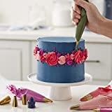 Wilton Navy Blue and Gold Piping Tips and Cake