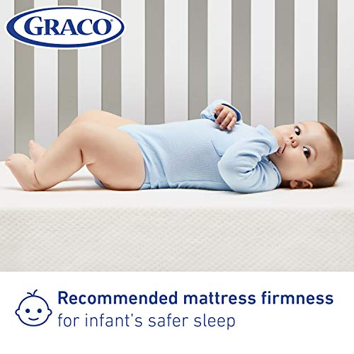 41v4fN7aG6L - Graco Premium Foam Crib And Toddler Mattress In A Box – GREENGUARD Gold Certified, Non-Toxic, Breathable, Removable Washable Water Resistant Outer Cover