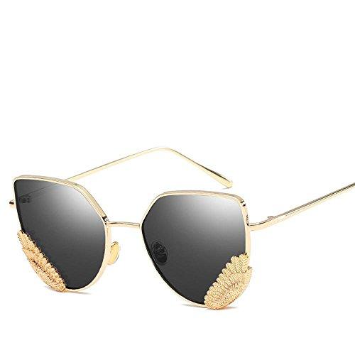GCR Sunglasses Polarized light Shade glasses Rétro grand boîtes trop large pattes lunettes , c1