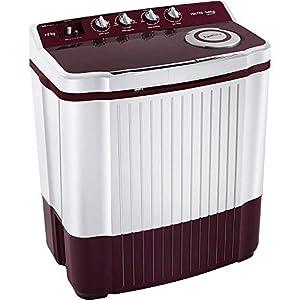 VOLTAS BEKO 7 Kg 5 Star Semi Automatic Top Loading Washing Machine WTT70DT (Burgundy)