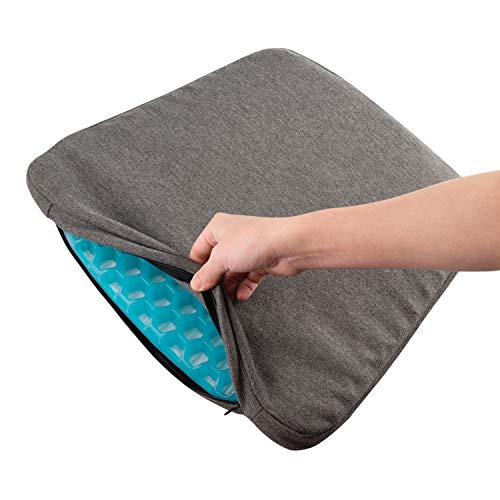 GALYGG Gel Seat Cushion with Non Slip Chair Pad Cover Breathable Honeycomb Prevents Soft Seat Pad Sweaty Bottom for Office Car Wheelchair, Egg Chair Cushion Pain Relieve Fatigue Back, Sciatica, Coccyx by GALYGG (Image #7)