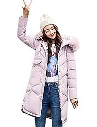 Limsea 2018 Women Winter Halloween Fur Hooded Solid Cotton-Padded Pocket Jackets Long Coats Outerwear