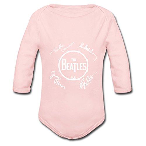 Ftuodesign The Beatles Long Sleeve Babysuit Organic Infant Onesie Pink 12 months