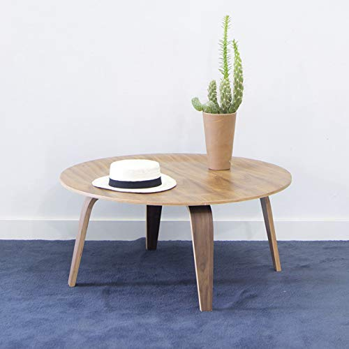Mesa centro madera redonda de madera ideal para salón ...