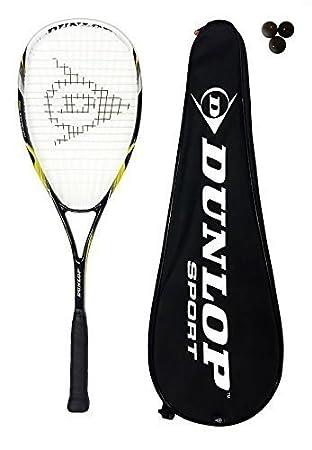 DUNLOP NANOMAX PRO Raqueta Para Squash De Titanio + 3 Pelotas De ...