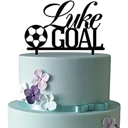 KISKISTONITE World Cup 2018 Cake Toppers, Football Sports Fan Cake Toppers for Kids | Name Custom Birthday Personalized Cake Decoration Favors Party Cake Decorating Supplies