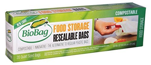 Price comparison product image Biobag, Food Waste Bags, 3 Gallon, 25 Count (Pack of 4)