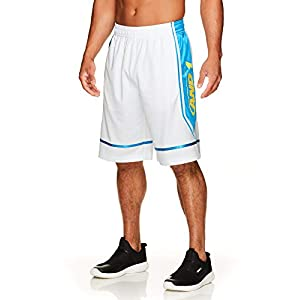 AND1 Men's Basketball Gym & Running Shorts w/Elastic Drawstring Waistband & Pockets