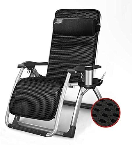 ADHW Reclinable, sillas reclinables Exterior, jardín al Aire Libre Mecedora Silla de relajación, Fundas de Cojines sillón reclinable, Playa Tomando el Sol (Size : Black): Amazon.es: Hogar