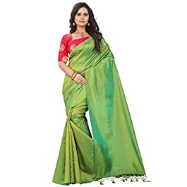 e-VASTRAM Art Silk with Blouse Piece Saree