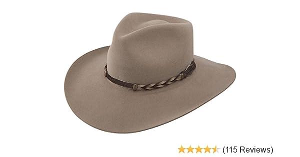 b7c2f212fc09d Stetson Men s 4X Drifter Buffalo Felt Pinch Front Cowboy Hat at Amazon  Men s Clothing store  Sombreros Vaqueros