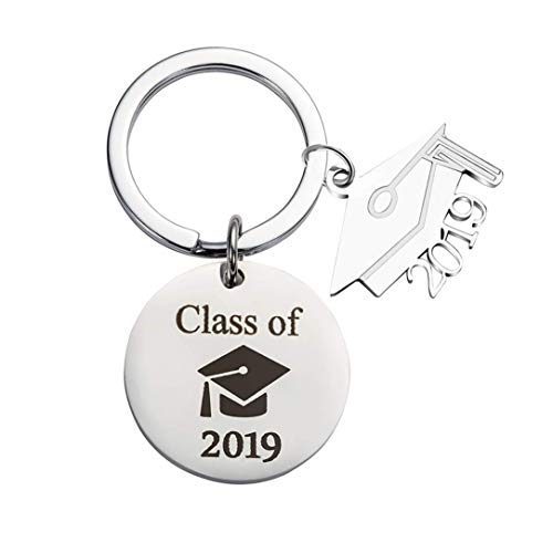 Graduation Gift Jewelry Stainless Steel 2019 Keychains-Class of 2019 Graduation Keychain Graduation Cap Diploma Keychain Charms for Student Graduation -