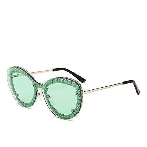 Aire Gu de Sol de de al Ojos Gafas Rimmed UV Gato de Libre Las para la la Color Peggy de Protección Pearl Mujeres la de los Conducción Vacaciones para C7 C7 de Playa EfdqptOWw