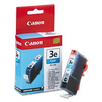 Ink Tank 3e Cyan Bci (Canon Replacement Ink Tank BCI 3E for BJC 3000, 6000; i550, i850, & Others, Cyan (CNM4480A003) Category: Inkjet Printer Cartridges)