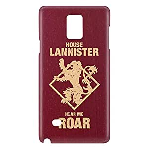 Loud Universe Galaxy Note 5 House Lannister Print 3D Wrap Around Case - Maroon