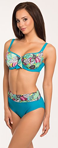 Antie Parte Superior del Bikini Para Mujer La Palma Azul/Rosa