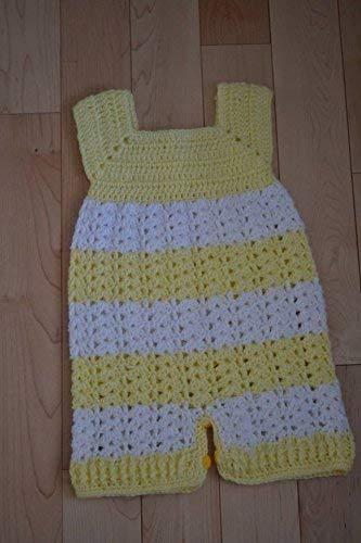 Amazoncom Handmade Crochet Baby Romper 0 3 Baby Boy Romper Baby