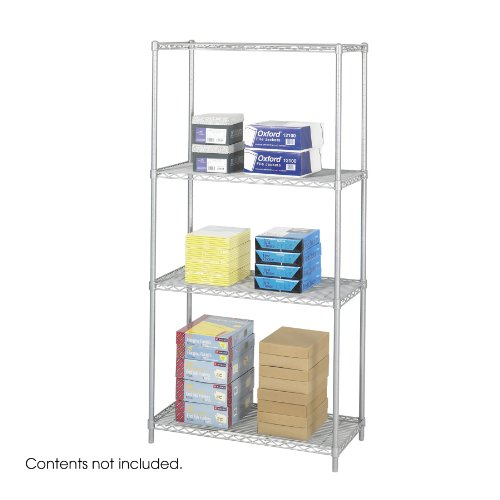 Safco Products 5285GR Industrial Wire Shelving Starter Unit 36