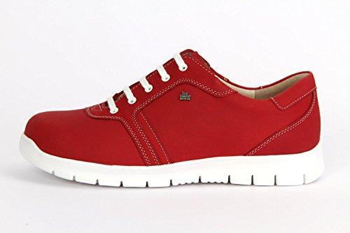 FINNCOMFORT Biscaya - Zapatos de cordones de Piel para mujer Rojo rojo Rojo - rojo