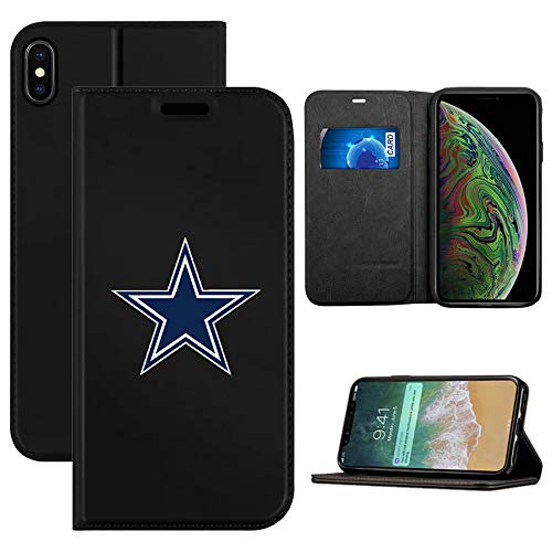 Cowboys Case Cell Phone - Cowboys iPhone Xs Wallet Case, iPhone X Patriots Wallet Case,Patriots Flip Folio Leather Cover Card Slot Holder with Kickstand and Magnetic Closure Compatible with iPhone X/XS 5.8 inch