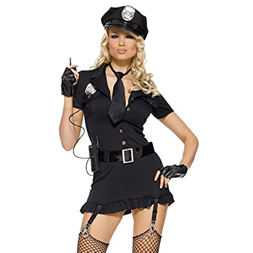 Leg Avenue Womenu0027s 6 Piece Dirty Cop Costume Black Small/Medium  sc 1 st  Amazon.com & Female Cop Costume: Amazon.com