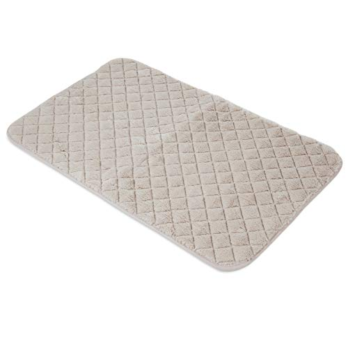 SNOOZZY CREAM 41X26 QUILTED MAT ()