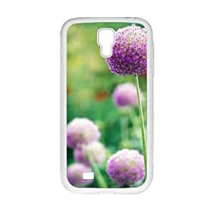 Personalized Clear Phone Case For Samsung Galaxy S4,attractive purple flower ball by lolosakes