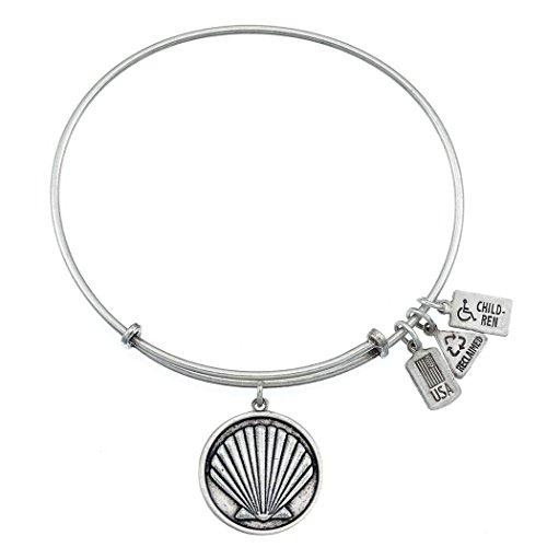 Vent et Fire Coquillage Bracelet charm Finition argent