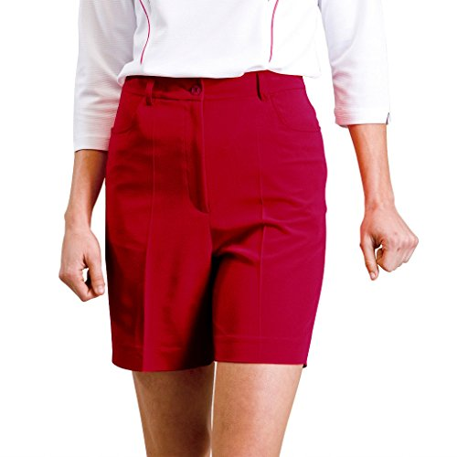 Monterey Club Ladies Stretchable Classic Shorts #2834 (Cardinal, Size:4)