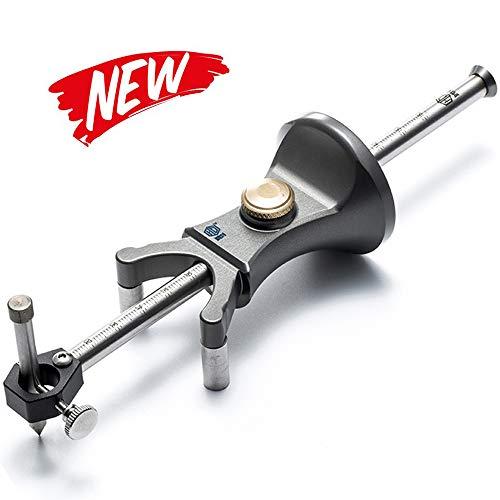 Wood Scribe Tool,KKmoon Wheel Marking Gauge 180mm Sliding Mark Scraper Adjustable Precision Linear Arc Dual-Purpose Scriber