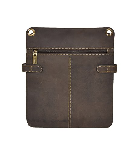 Bag Genuine Women Sling Vintage Casual Small Leather Brown Napier Crossbody Man OR6xwRBI