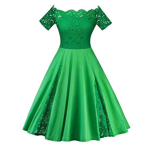 LISTHA Lace Party Dress Women Plus Size Off Shoulder Short Sleeve Mini Dress