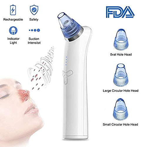 Blackhead Remover, COOFO Blackhead Vacuum Suction Remover Electric Pore Cleaner Removal Extractor Tool Skin Facial Pore Cleaner for Facial Skin Treatment (Blue)