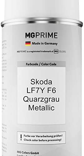 Mg Prime Autolack Sprühdosen Set Für Skoda Lf7y F6 Quarzgrau Metallic Basislack Klarlack Spraydose 400ml Auto