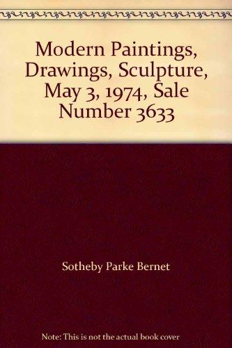Modern Paintings, Drawings, Sculpture, May 3, 1974, Sale Number 3633