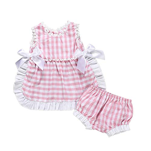 Lurryly (Pink, Recommended Age:0-6 Months,Label Size:70) Baby Boy Dress Shoes, Flower Girl Dress Toddler, Little Girl Dresses, Firefighter Dress Up Kids, Baby Birthday Dress