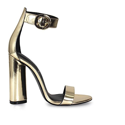 KENDALL + KYLIE GISELLE SANDAL PLATINUM LEATHER