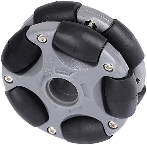 全方向性タイヤ(58mm) オムニホイール ダブルプラスチック おもちゃ センターベアリング 1個