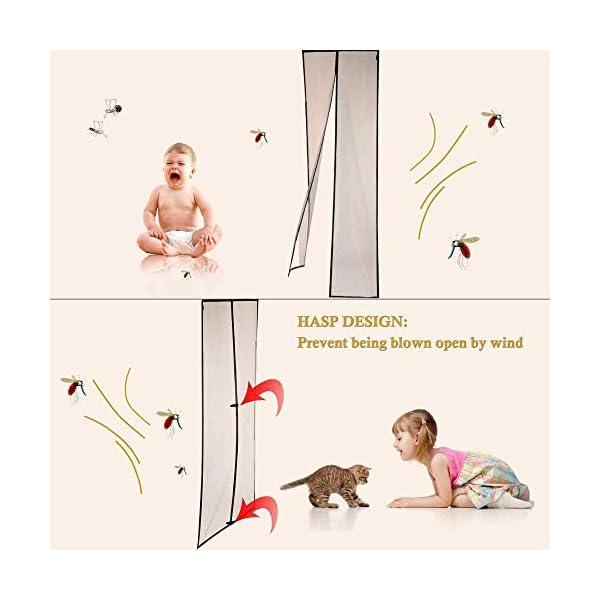 FENGZ Zanzariera Magnetica, Anti Insetti Traspirante Chiusura Automatica Tenda Zanzariera Porta-per Balcony Sliding… 3 spesavip