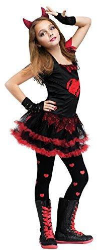 [Fun World Devil Diva Girl's Costume Red/Black Medium (8-10)] (Red Devil Child Costume)