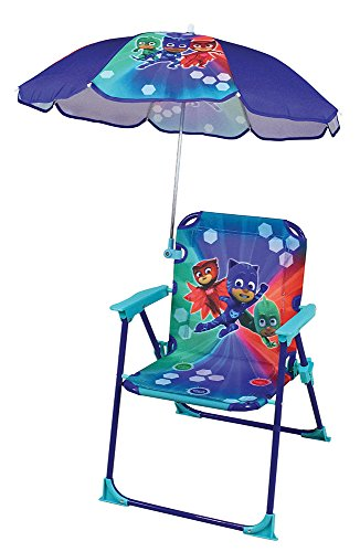 Fun House 712852 PYJAMASQUES Chaise – Fauteuil avec Parasol pliable pour Enfant