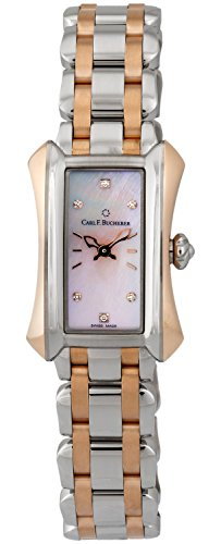 Carl F. Bucherer Alacria Princess Steel & 18k Rose Gold Womens Watch Pink Mother-of-Pearl Dial 00.10703.07.77.21 Retail Price $6,700.00