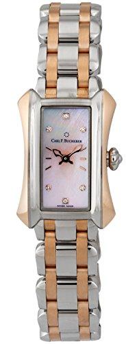 Carl F. Bucherer Alacria Princess Steel & 18k Rose Gold Womens Watch Pink Mother-of-Pearl Dial 00.10703.07.77.21 Retail Price $6,700.00 (Watch Rose Wrist 18k)