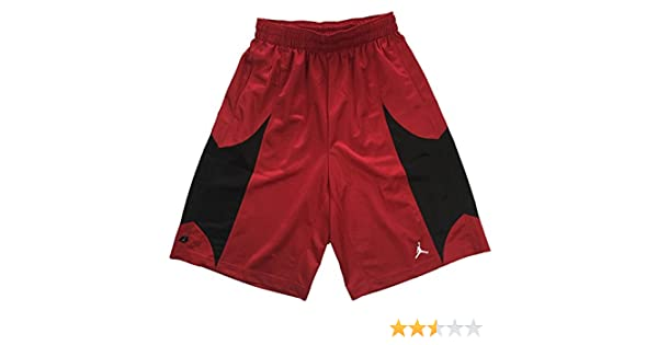 b92d00d7e10 Amazon.com : Nike Air Jordan Mens Durasheen Jumpman Basketball Shorts  Red/Black (S) : Sports & Outdoors
