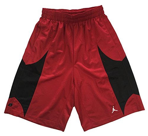 (Nike Air Jordan Mens Durasheen Jumpman Basketball Shorts Red/Black (S))