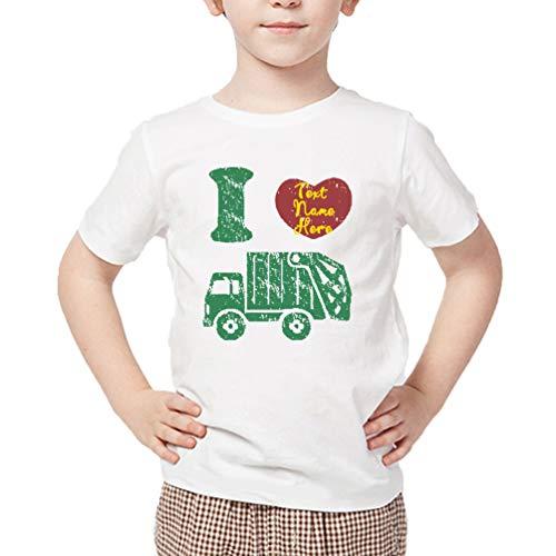 Waldeal Custom Boys I Love Trucks Graphic Tee Trash Man Costume Kids Tshit Size 3 ()
