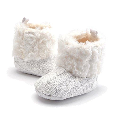 TININNA Zapatos Botas Invierno Cálido Para Bebé Niños Niñas Mantenga Cálida Nieve Suave Suela Botas de Cuna Suave Zapatos-Blanco: Amazon.es: Hogar